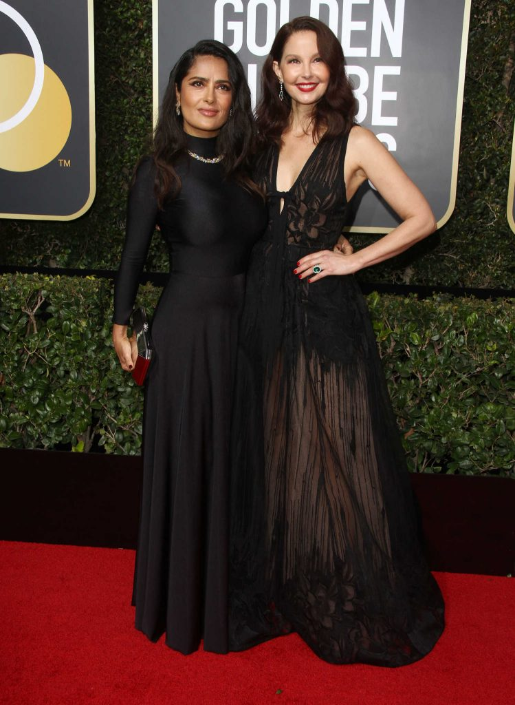 Salma Hayek at the 75th Annual Golden Globe Awards in Beverly Hills-4