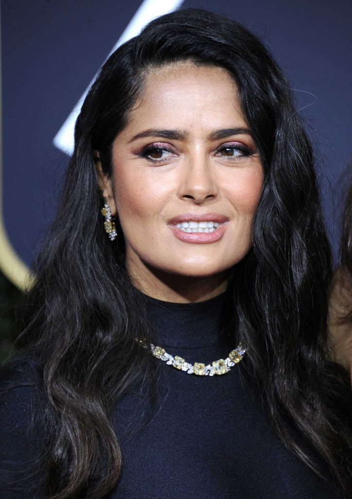Salma Hayek at the 75th Annual Golden Globe Awards in Beverly Hills-5
