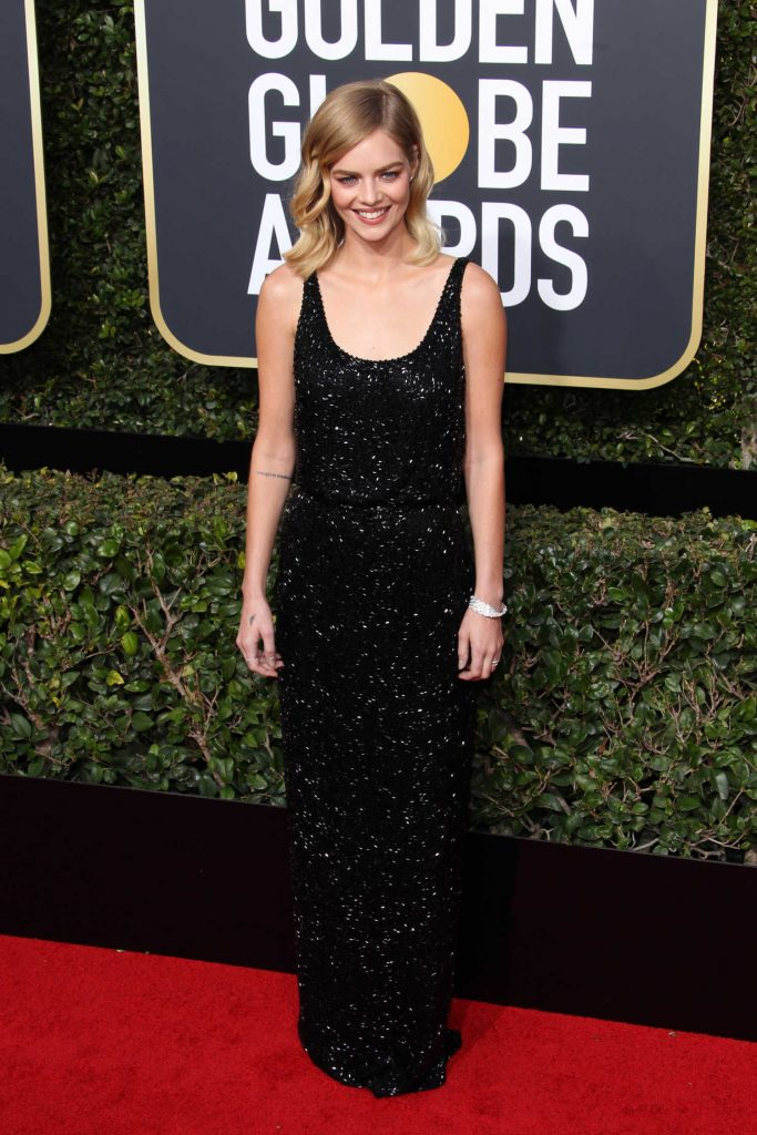 Samara Weaving at the 75th Annual Golden Globe Awards in Beverly Hills-1