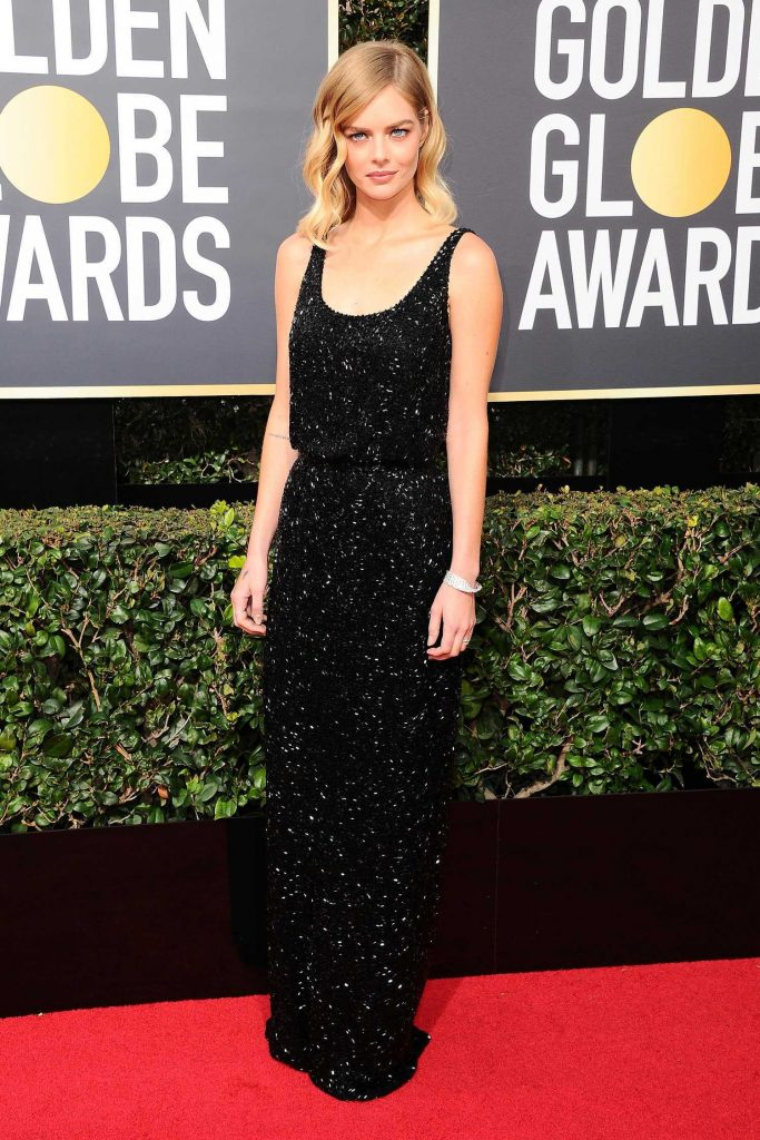 Samara Weaving at the 75th Annual Golden Globe Awards in Beverly Hills-2