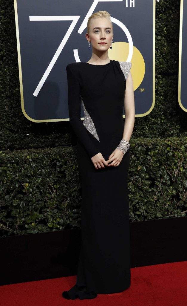 Saoirse Ronan at the 75th Annual Golden Globe Awards in Beverly Hills-1