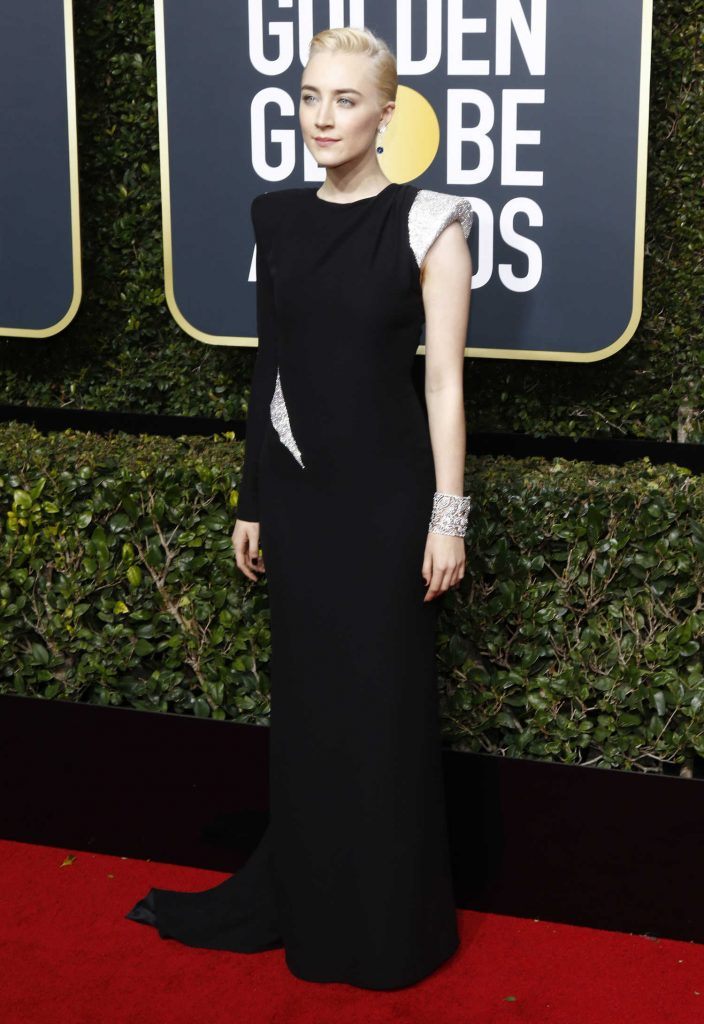 Saoirse Ronan at the 75th Annual Golden Globe Awards in Beverly Hills-3