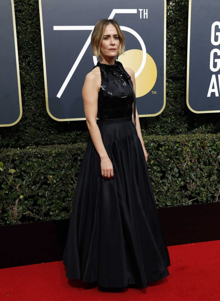 Sarah Paulson at the 75th Annual Golden Globe Awards in Beverly Hills-2