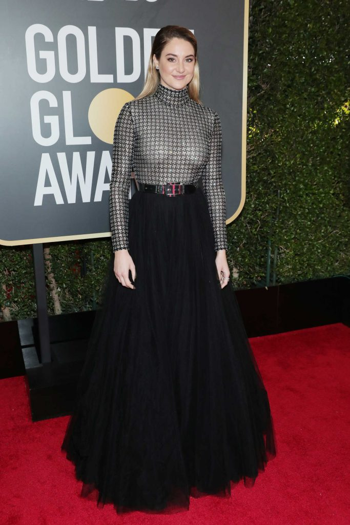 Shailene Woodley at the 75th Annual Golden Globe Awards in Beverly Hills-1