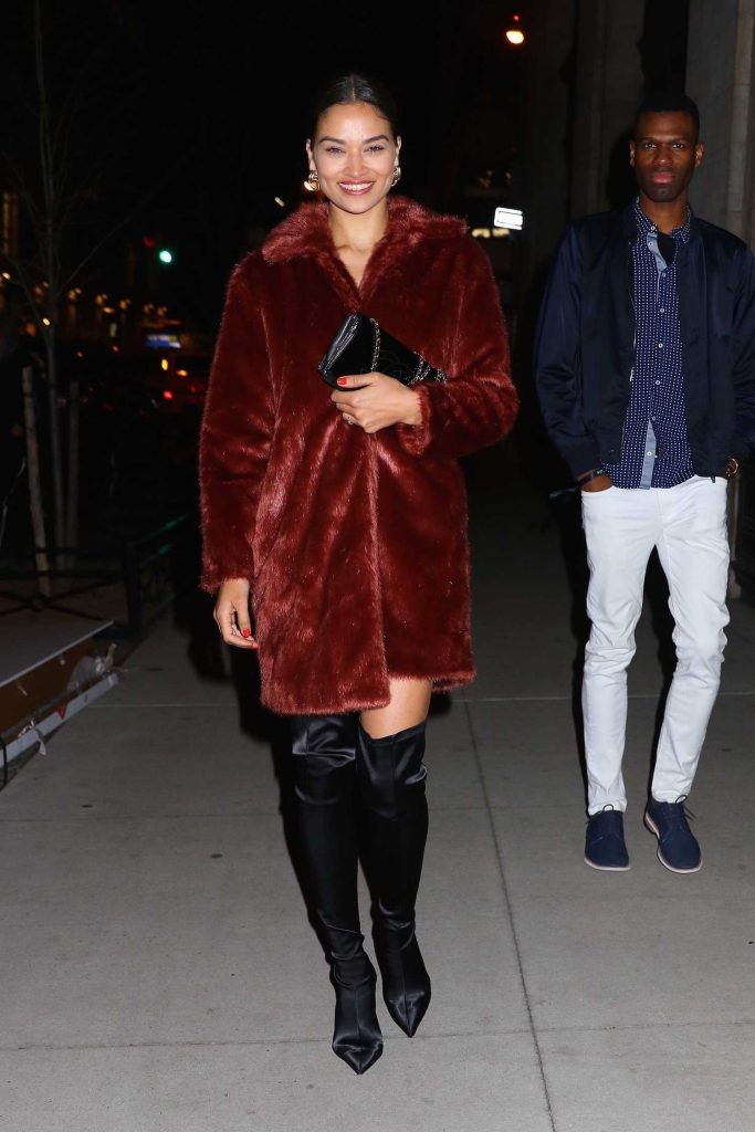 Shanina Shaik Leaves the Republic Records Party in New York City-1