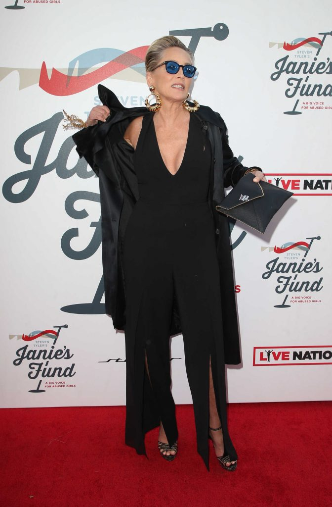 Sharon Stone at Inaugural Janie's Fund Gala and Grammy Awards Viewing Party in LA-1