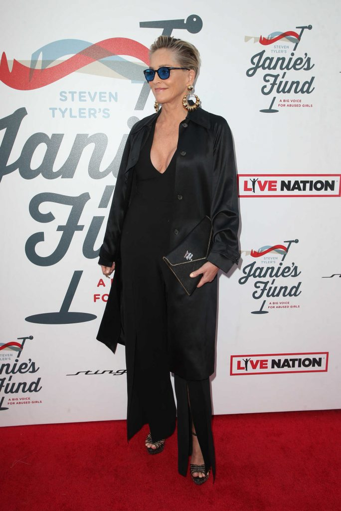 Sharon Stone at Inaugural Janie's Fund Gala and Grammy Awards Viewing Party in LA-2