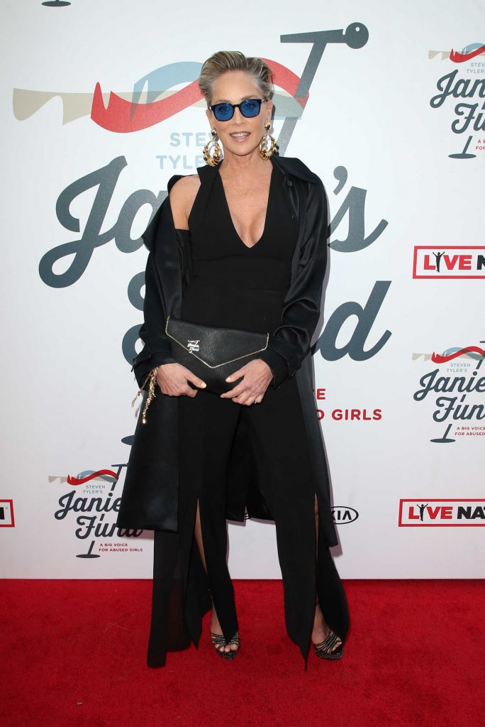 Sharon Stone at Inaugural Janie's Fund Gala and Grammy Awards Viewing Party in LA-3