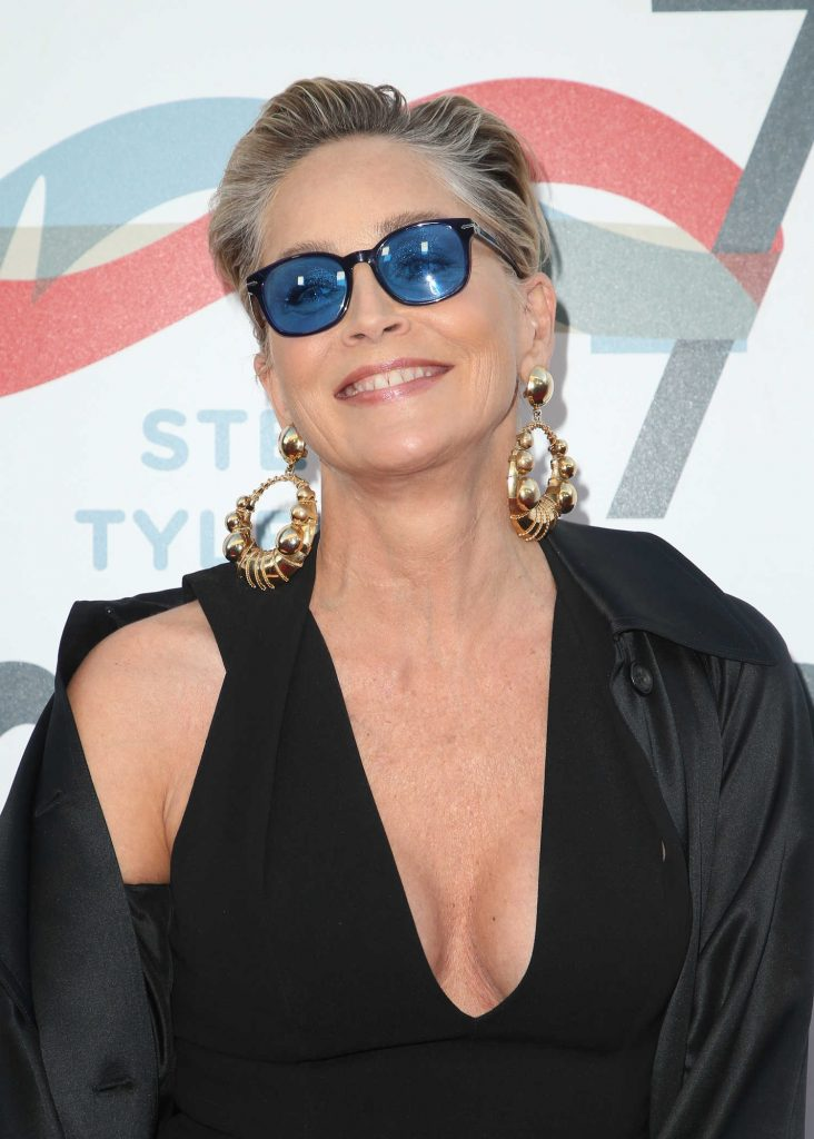 Sharon Stone at Inaugural Janie's Fund Gala and Grammy Awards Viewing Party in LA-5