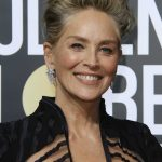 Sharon Stone at the 75th Annual Golden Globe Awards in Beverly Hills