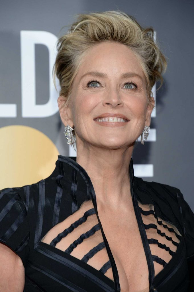 Sharon Stone at the 75th Annual Golden Globe Awards in Beverly Hills-2