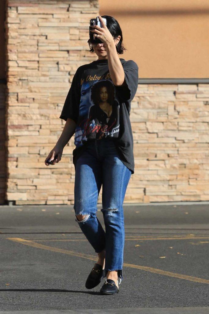Vanessa Hudgens Stops by a CVS Pharmacy in Studio City-1