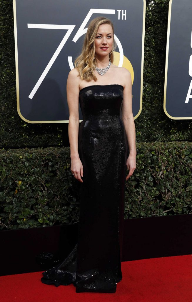 Yvonne Strahovski at the 75th Annual Golden Globe Awards in Beverly Hills-1