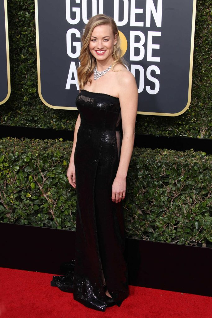 Yvonne Strahovski at the 75th Annual Golden Globe Awards in Beverly Hills-2