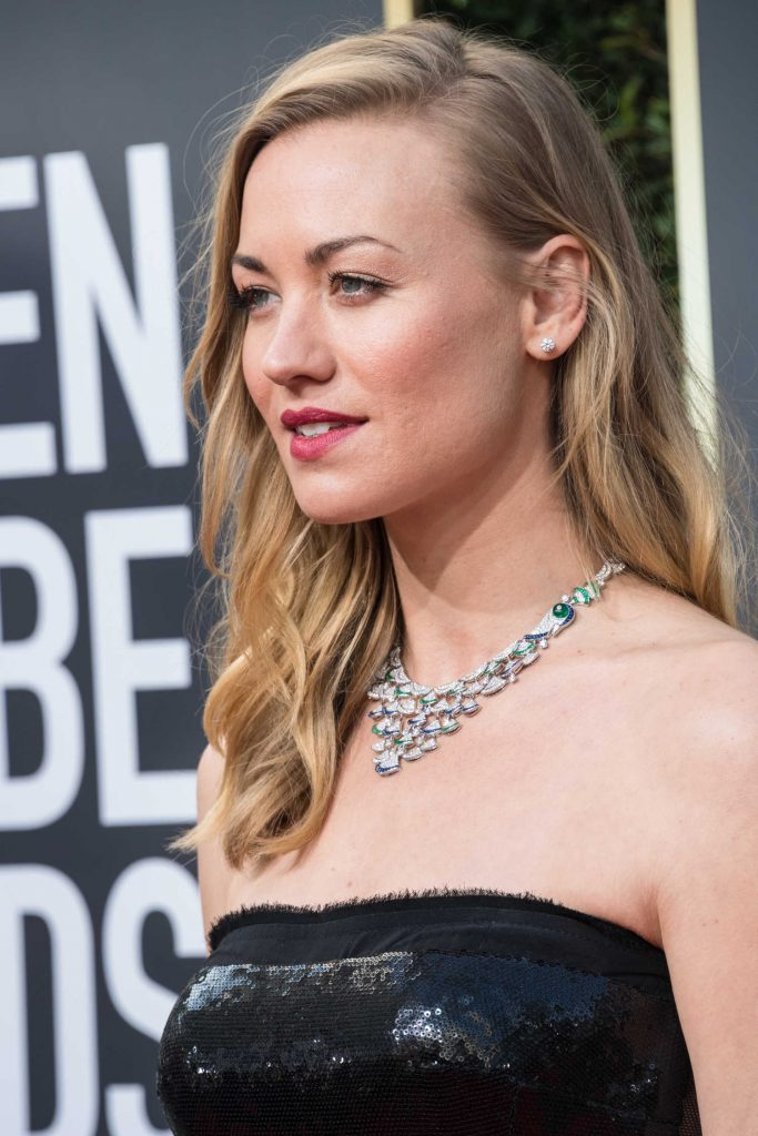 Yvonne Strahovski at the 75th Annual Golden Globe Awards in Beverly Hills-3