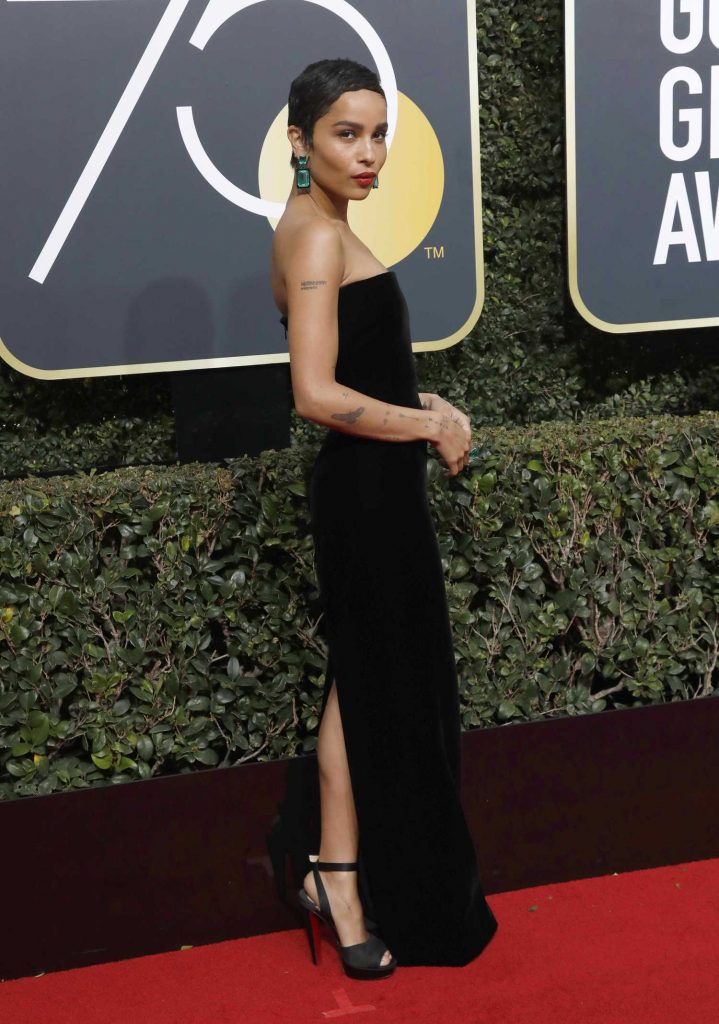 Zoe Kravitz at the 75th Annual Golden Globe Awards in Beverly Hills-3