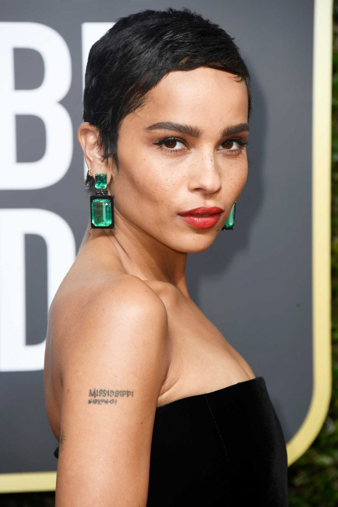 Zoe Kravitz at the 75th Annual Golden Globe Awards in Beverly Hills-5