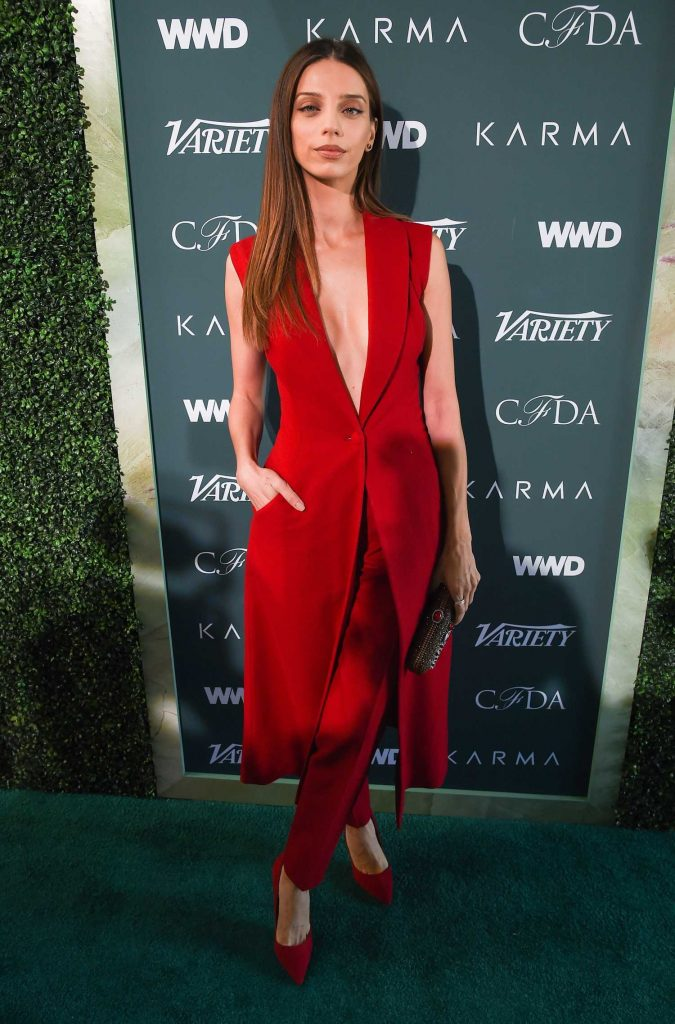 Angela Sarafyan at CFDA Variety and WWD Runway to Red Carpet in Los Angeles-1