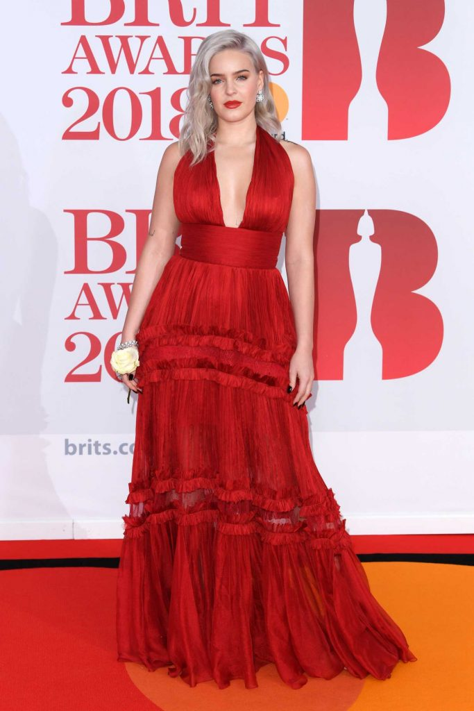 Anne-Marie Attends the 2018 Brit Awards at the O2 Arena in London-1