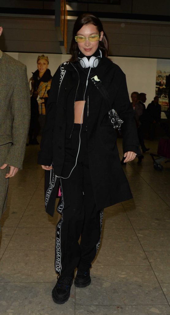 Bella Hadid Lands at Heathrow Airport in London-2