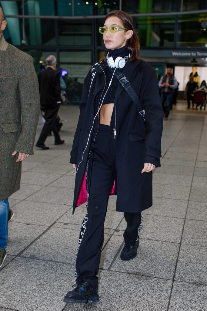 Bella Hadid Lands at Heathrow Airport in London-3