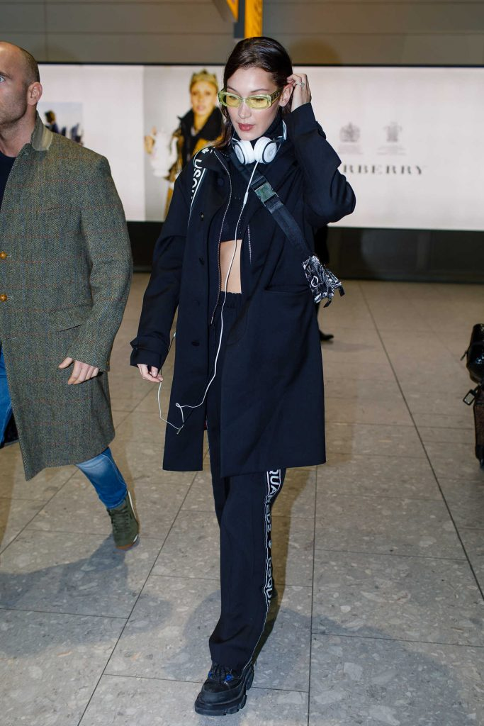 Bella Hadid Lands at Heathrow Airport in London-4