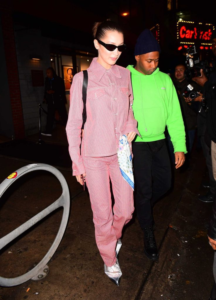 Bella Hadid Leaves Jimmy Choo Dinner's During New York Fashion Week in New York City-1