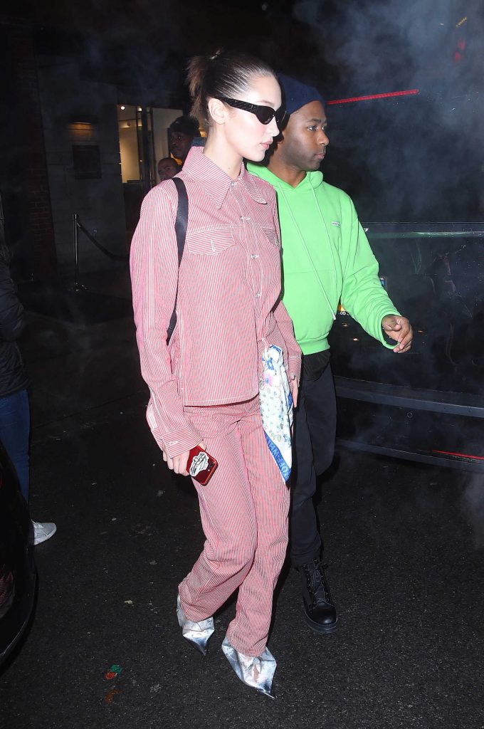 Bella Hadid Leaves Jimmy Choo Dinner's During New York Fashion Week in New York City-4