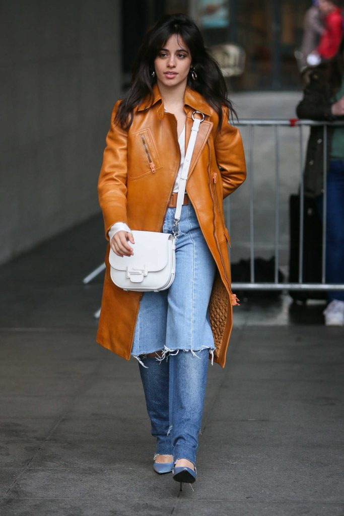 Camila Cabello Leaves the BBC Radio One Studios in London-1