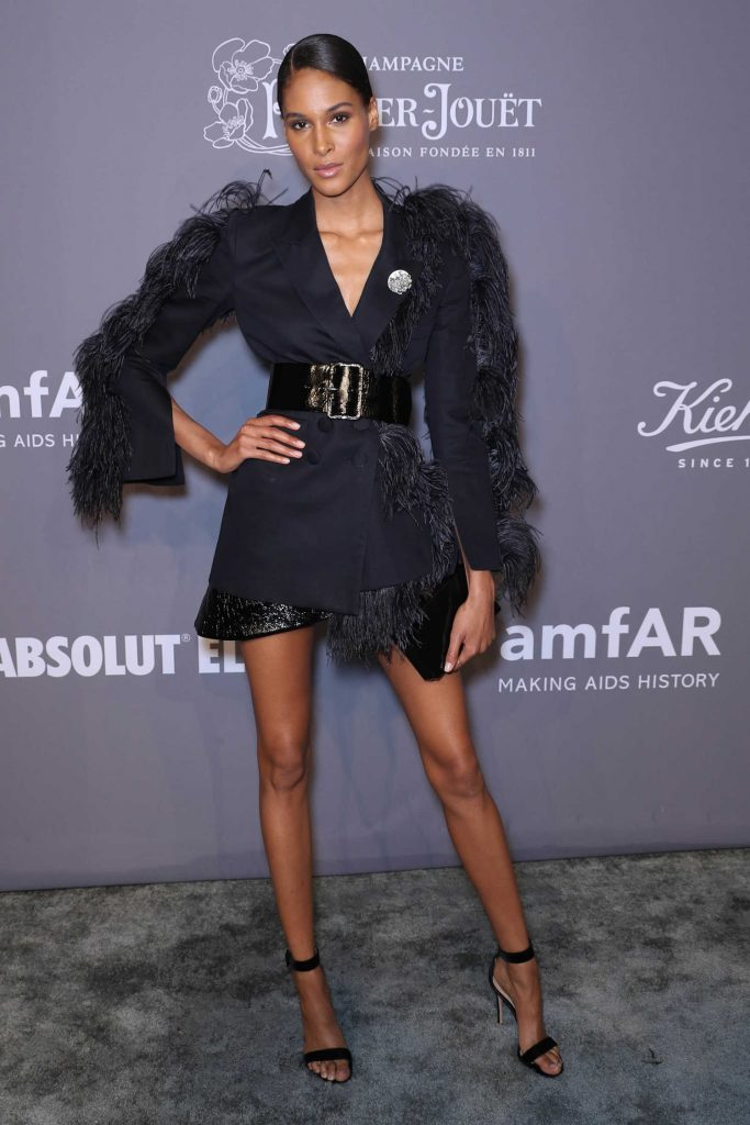 Cindy Bruna at 2018 amfAR Gala New York at Cipriani Wall Street in New York City-4