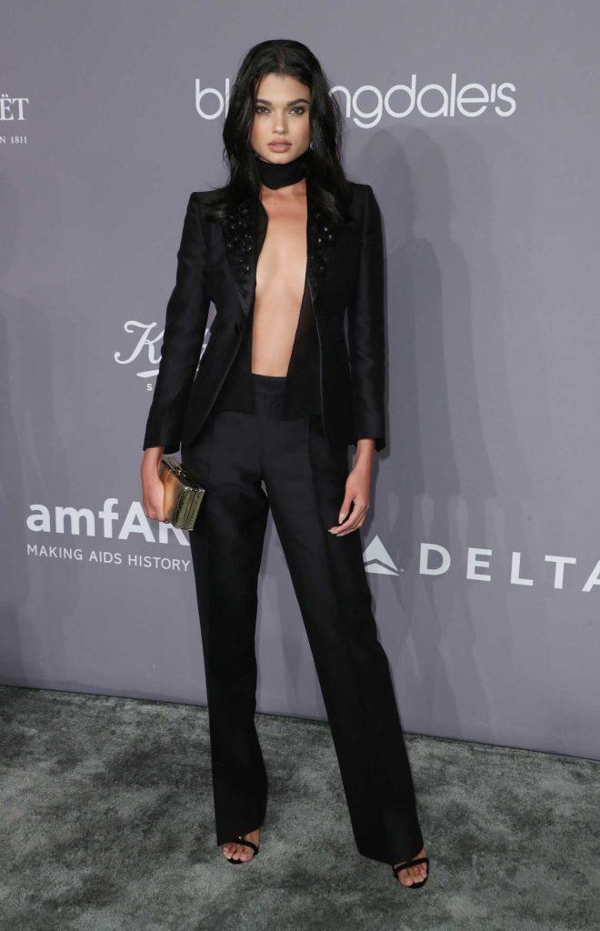 Daniela Braga at 2018 amfAR Gala New York at Cipriani Wall Street in New York City-2