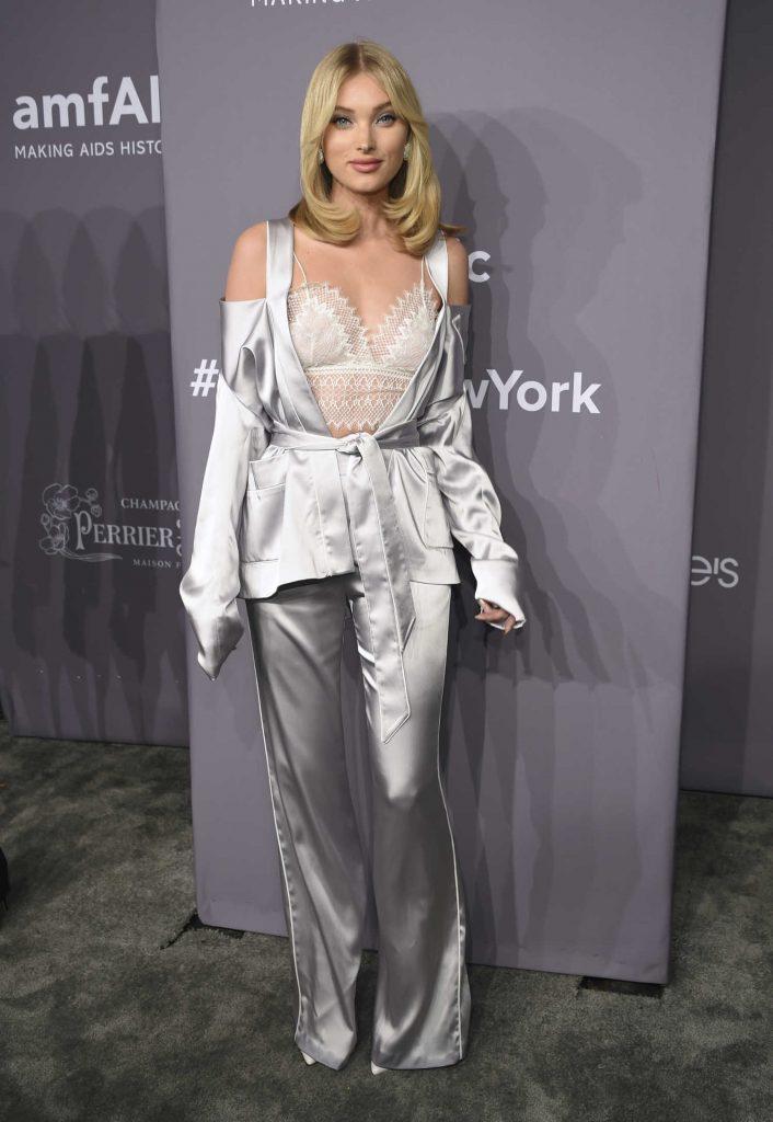 Elsa Hosk at 2018 amfAR Gala New York at Cipriani Wall Street in New York City-1