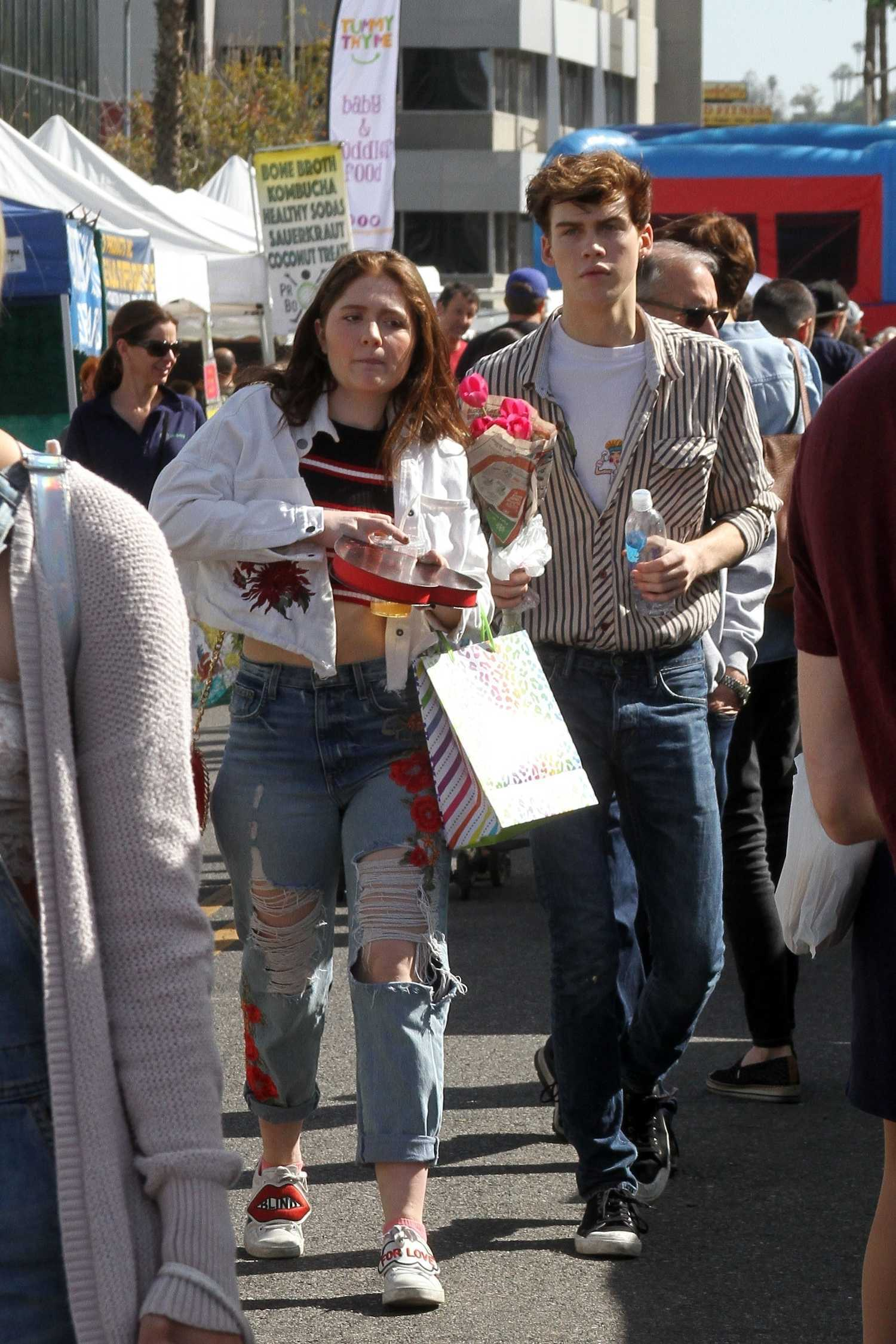 Emma Kenney Arrives at the Farmer's Market with her