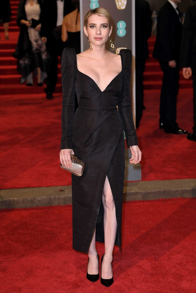 Emma Roberts at the 71st British Academy Film Awards at Royal Albert Hall in London-1