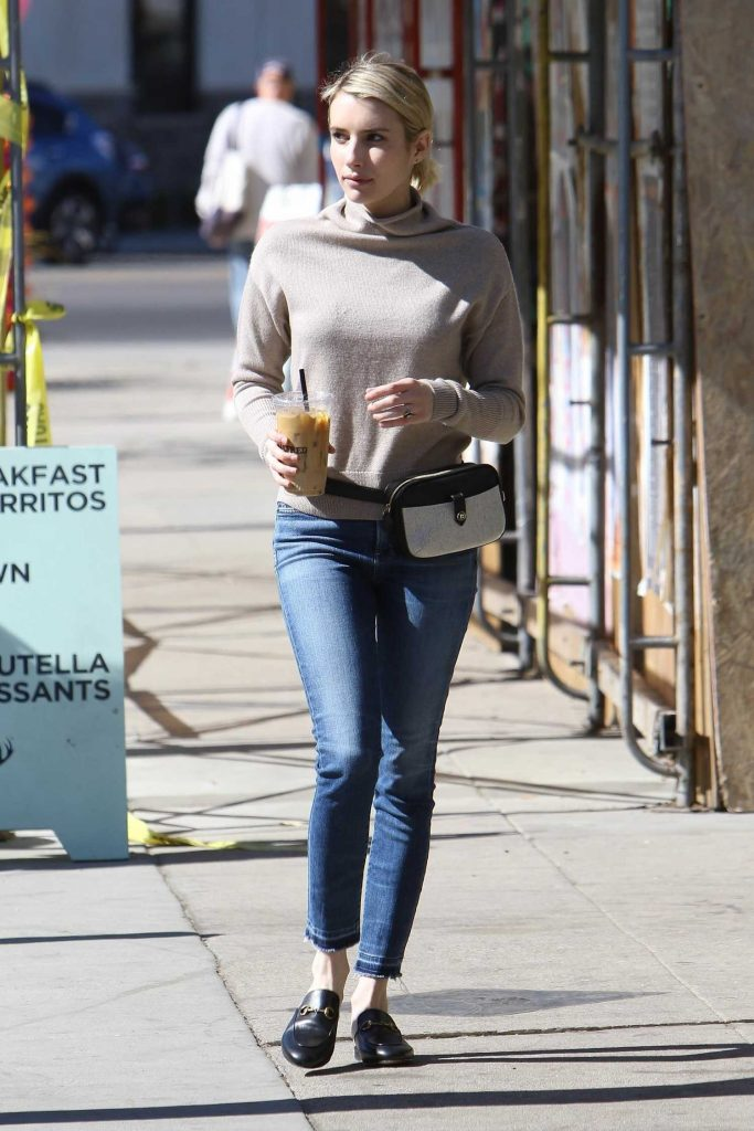 Emma Roberts Stops at Alfred Coffee in Los Angeles-2