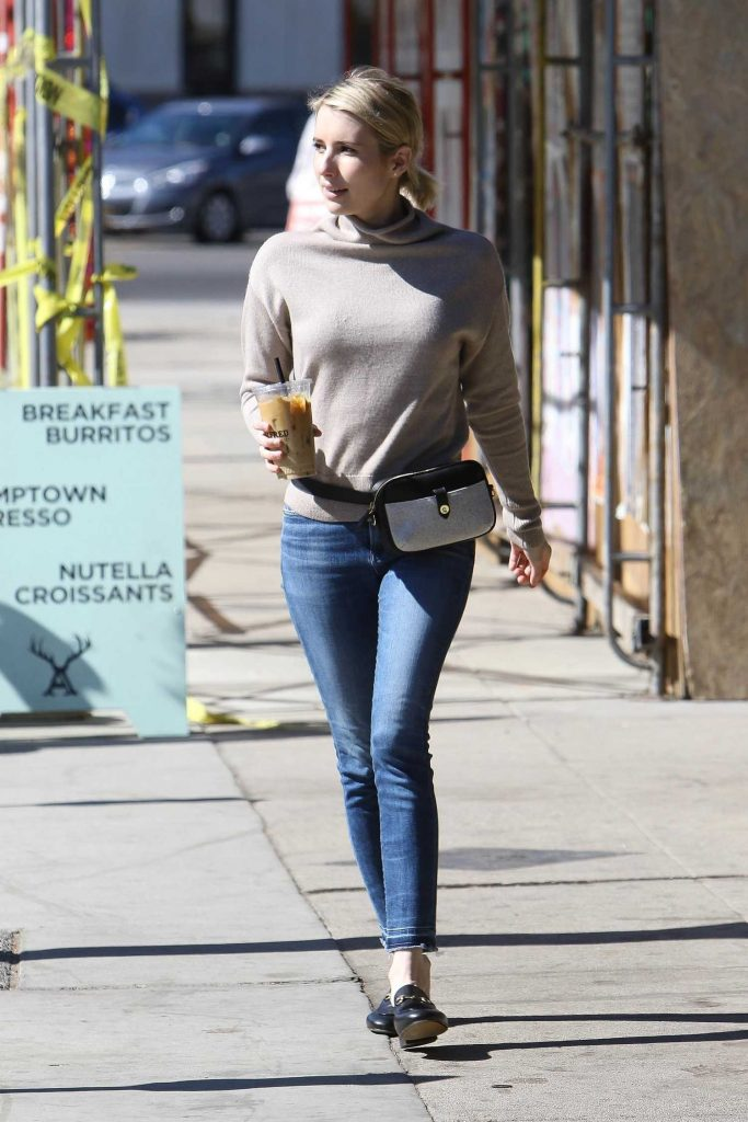 Emma Roberts Stops at Alfred Coffee in Los Angeles-3