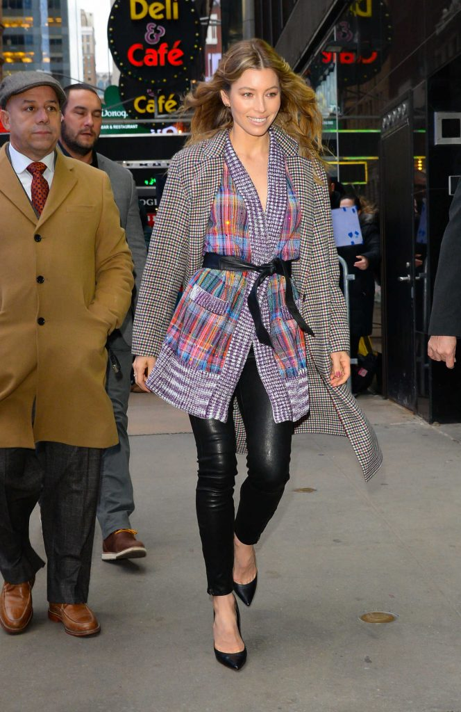 Jessica Biel Arrives at Good Morning America in New York-2