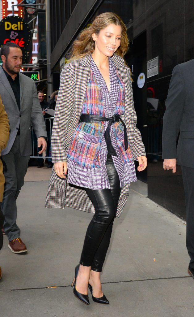 Jessica Biel Arrives at Good Morning America in New York-4