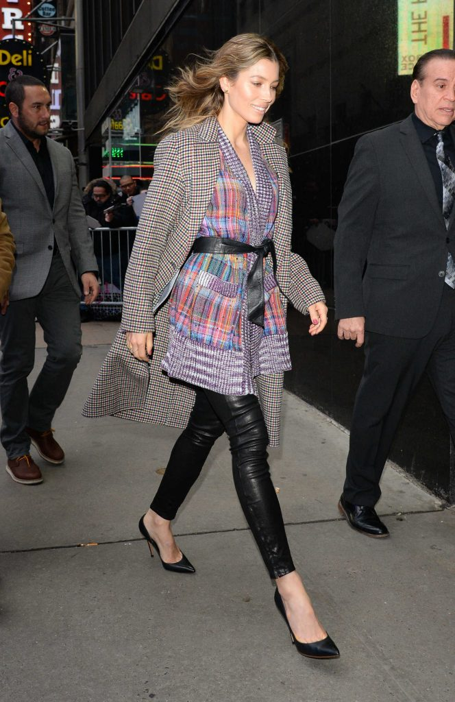 Jessica Biel Arrives at Good Morning America in New York-5