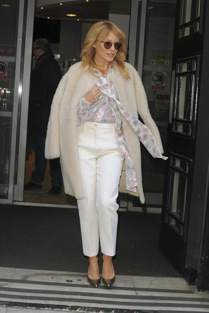 Kylie Minogue Leaves BBC Radio 2 in London-1