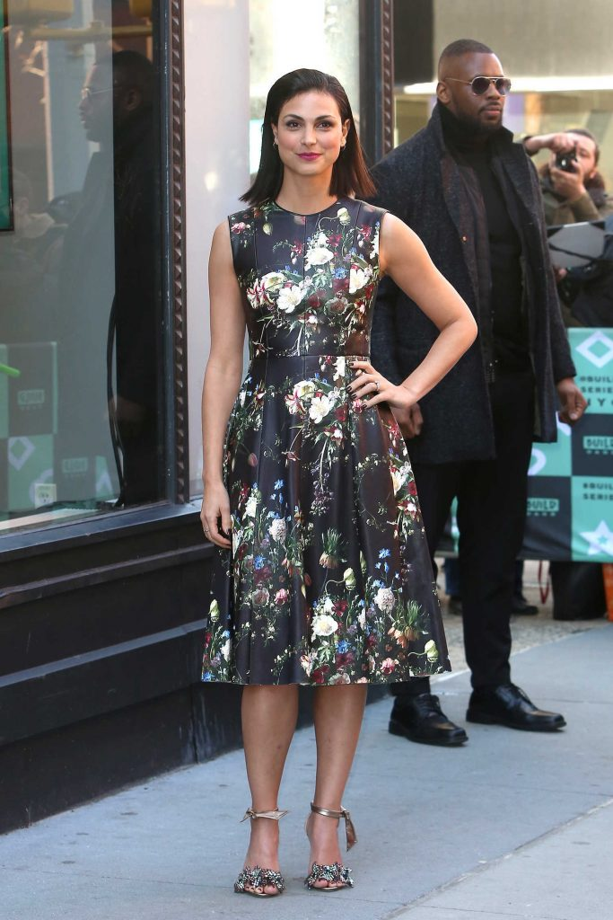 Morena Baccarin Arrives at AOL Build Speaker Series in New York-1