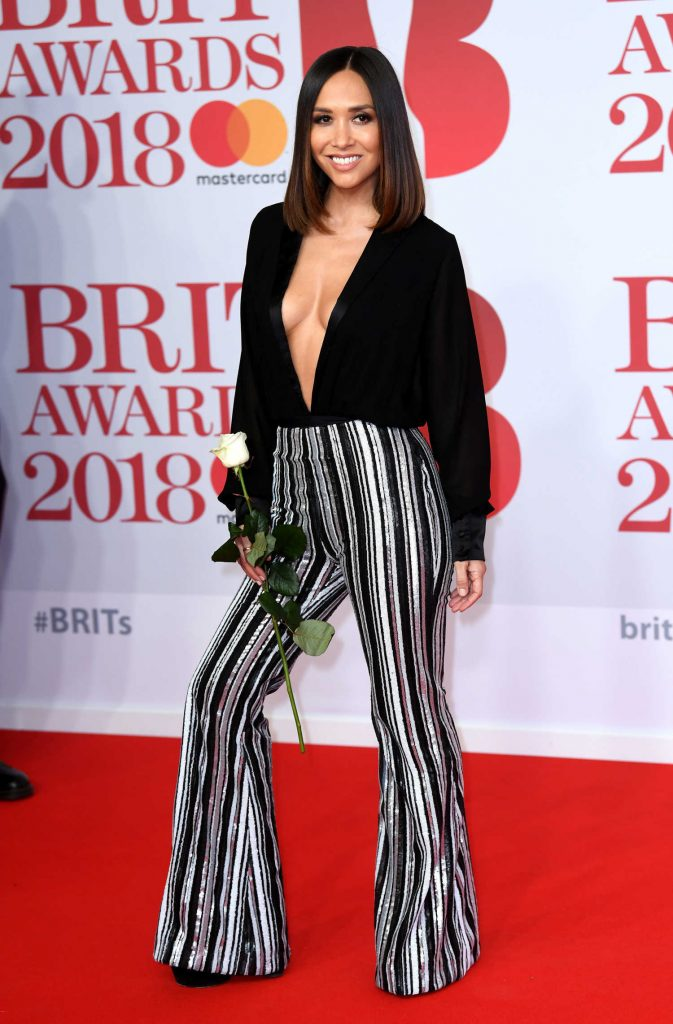 Myleene Klass Attends the 2018 Brit Awards at the O2 Arena in London-3