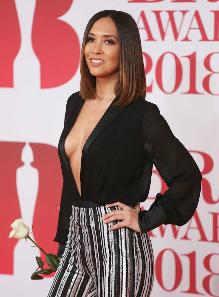 Myleene Klass Attends the 2018 Brit Awards at the O2 Arena in London-4