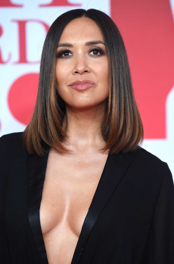 Myleene Klass Attends the 2018 Brit Awards at the O2 Arena in London-5