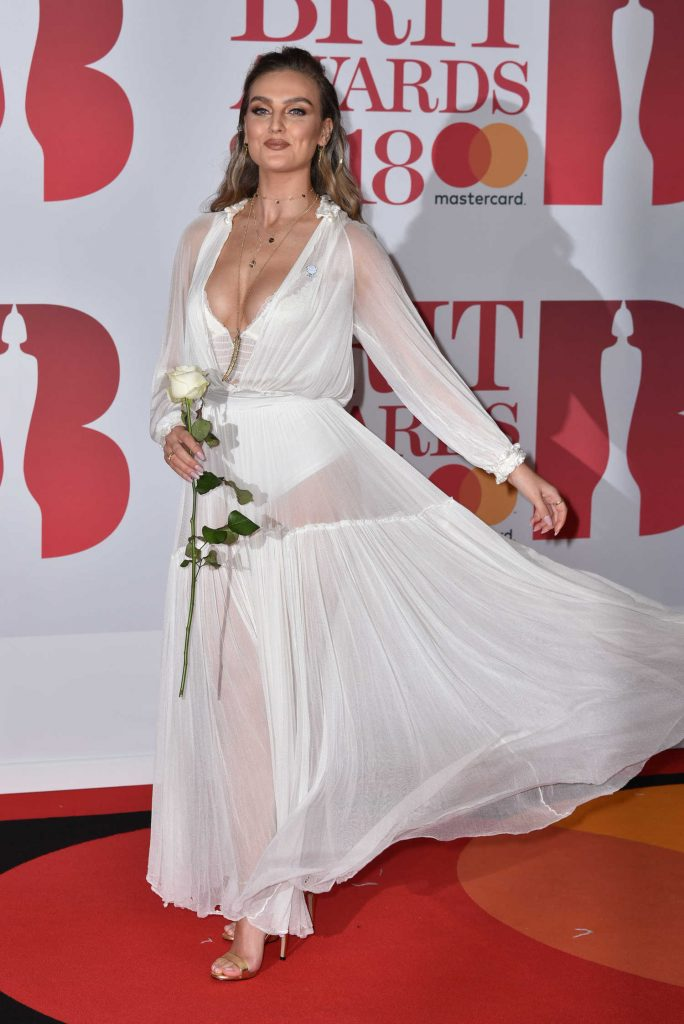 Perrie Edwards Attends the 2018 Brit Awards at the O2 Arena in London-1