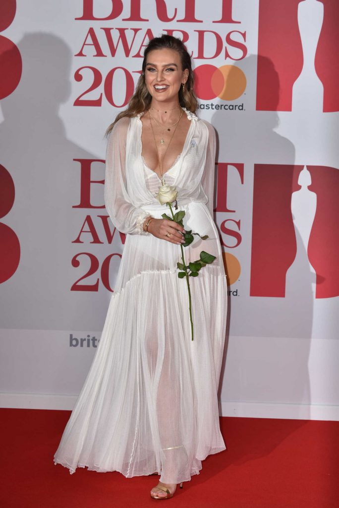 Perrie Edwards Attends the 2018 Brit Awards at the O2 Arena in London-2