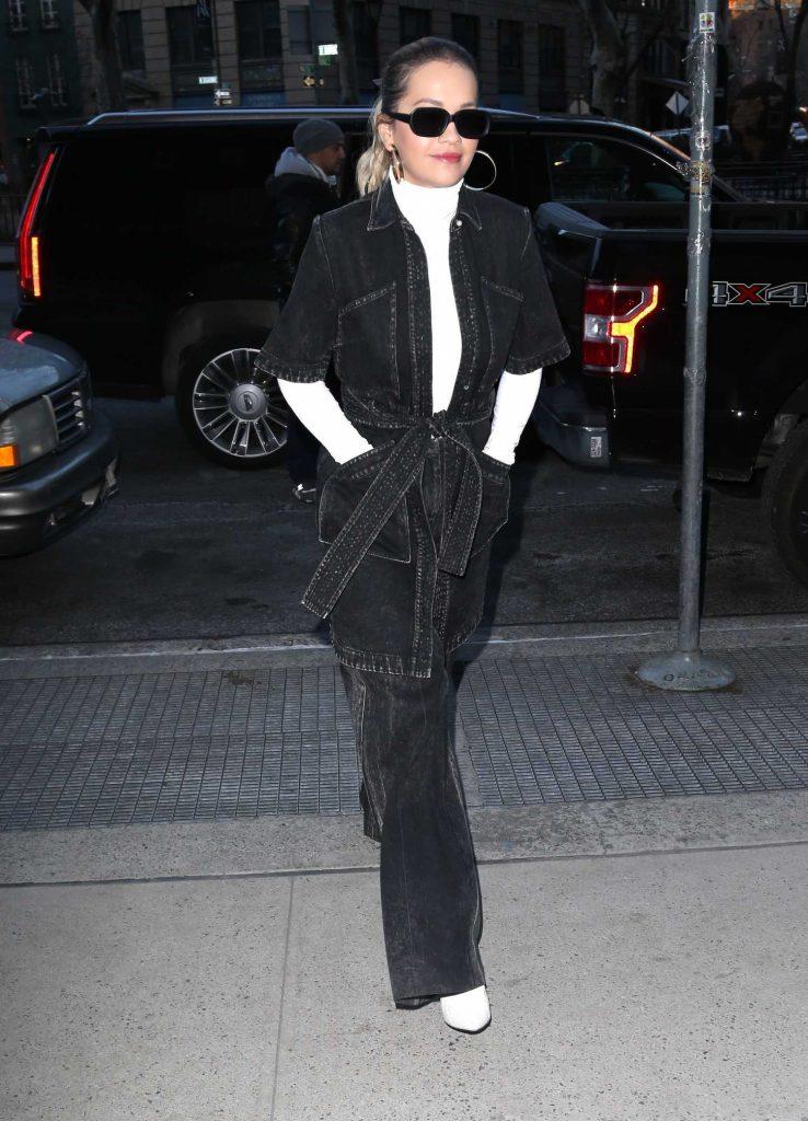 Rita Ora Arrives at the Z100 Radio Station in New York City-1