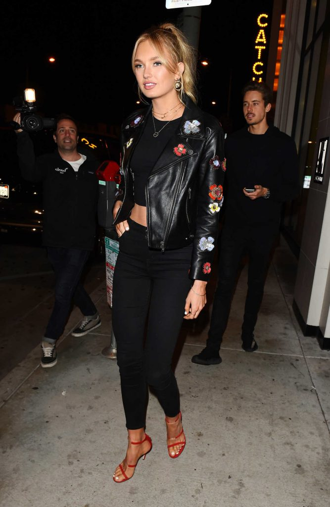 Romee Strijd Grabs Dinner at Catch LA Restaurant in West Hollywood-4