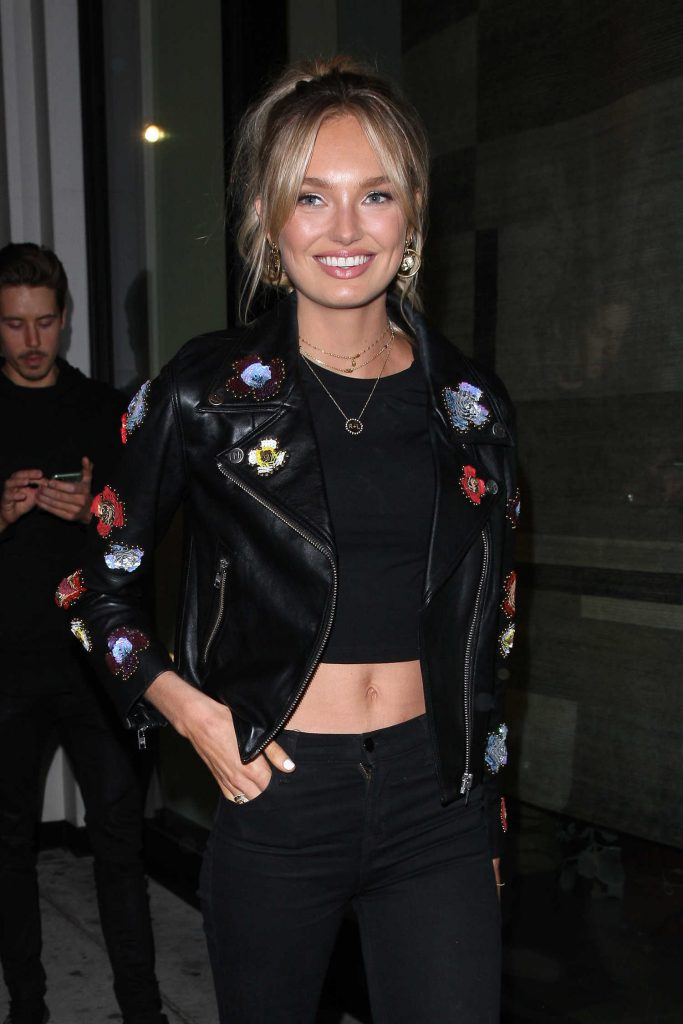 Romee Strijd Grabs Dinner at Catch LA Restaurant in West Hollywood-5