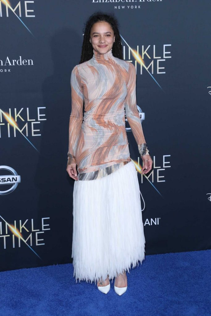 Sasha Lane at A Wrinkle in Time Premiere in Los Angeles-1